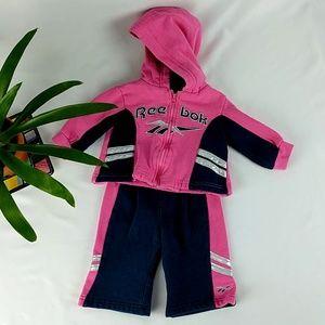 Reebok Sweatsuit Set 3-6 mos. Girls' Pink & Blue